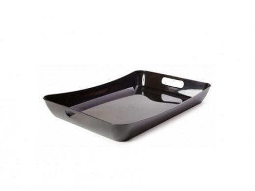 Taca śniadaniowa Berossi Rondo czarna POSERWISOWA - Ślady użytkowania, zarysowania