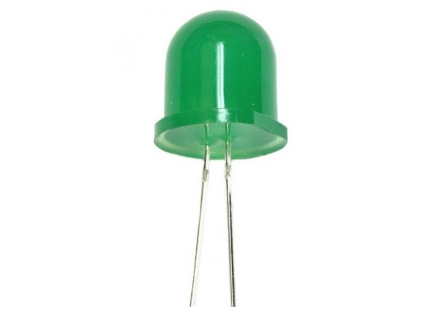 Dioda LED 12mm zielona