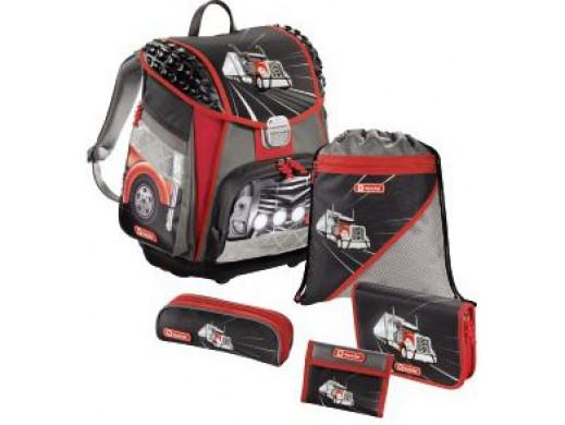 Plecak tornister Step by Step MOTOR TRUCK 5 cz. POSERWISOWY Ślady użytkowania, zabrudzenia, zarysowania na przedniej klamrze