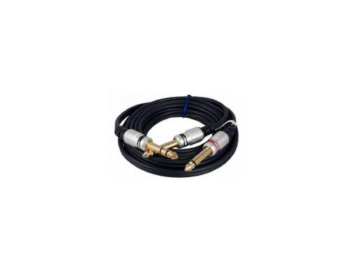 Przewód wtyk 6,3 stereo/2*wtyk 6,3 mono digital 3m MK75 Vitalco