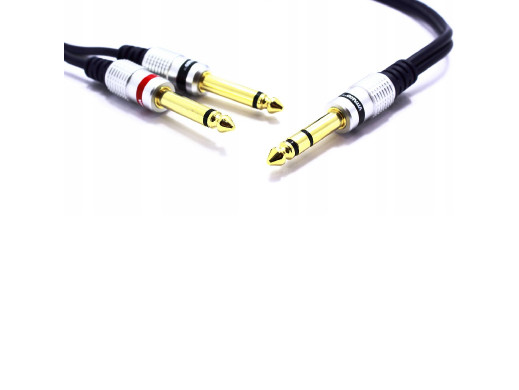 Przewód wtyk 6,3 stereo/2*wtyk 6,3 mono digital 5m MK75 Vitalco