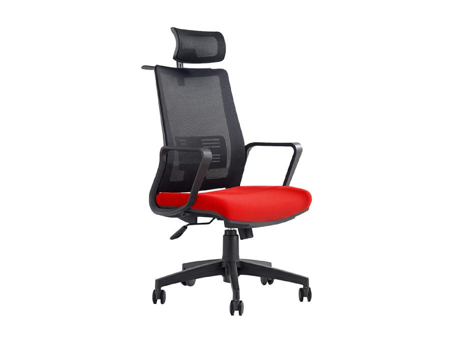 Fotel biurowy ergonomiczny regulowany zagłówek i podparcie pleców, wieszak GreenBlue GB180