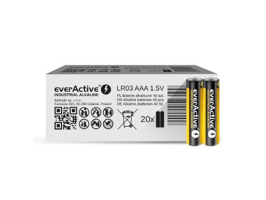 40x baterie alkaliczne everActive Industrial AAA