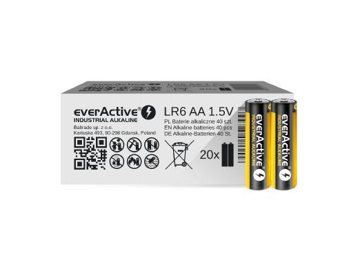 40x baterie alkaliczne everActive Industrial AA