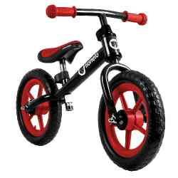 Rowerek biegowy FIN Lionelo czarno-czerwony