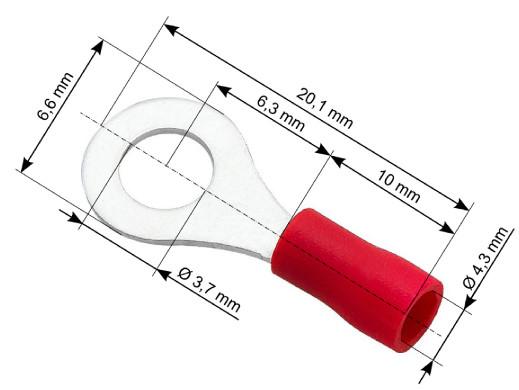 Konektor oczko izolowany M...