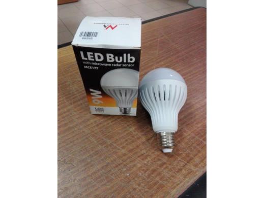 Żarówka LED E27 9W 230V Maclean Energy MCE177 WW ciepły biały  POSERWISOWA czujniki nie działają, żarówka świeci cały
