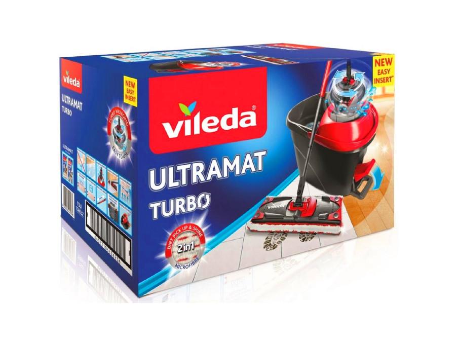 Zestaw mop płaski obr. Vileda Ultramat Turbo box
