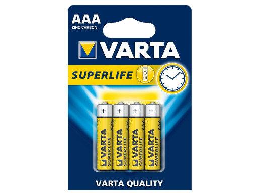 4x baterie Varta Superlife...