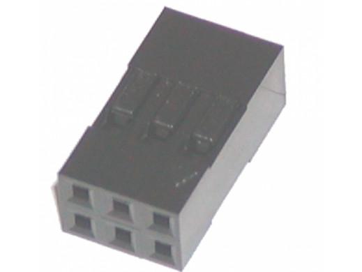 Złącze BLD-06 gniazdo 6 pin 2x3 na kabel