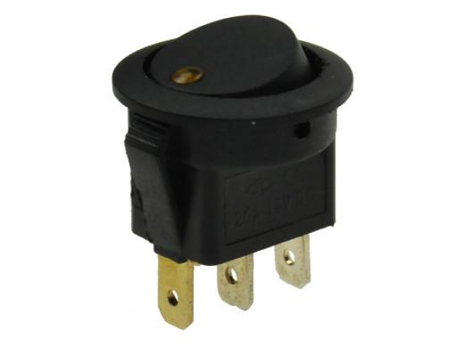 Przełącznik klawiszowy 2 pozycje 3 pin 12V 20A podświetlany LED kropka żółta IRS101E-8 okrągły