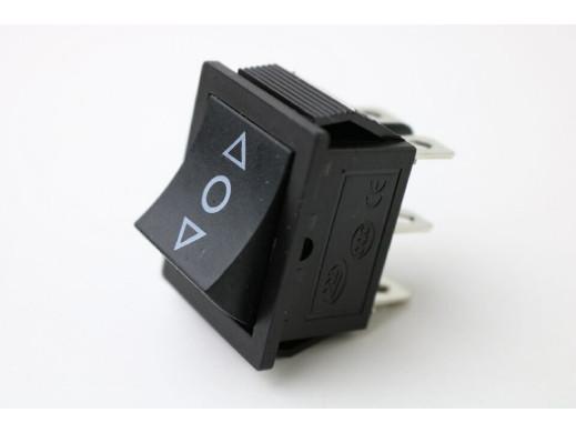 Przełącznik klawiszowy 3 pozycje 6 PIN 220V chwilowy szeroki ON-OFF-ON KCD4