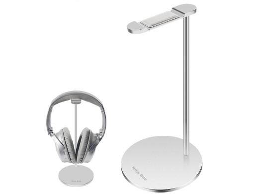 Stand stojak na słuchawki NEW BEE srebrny