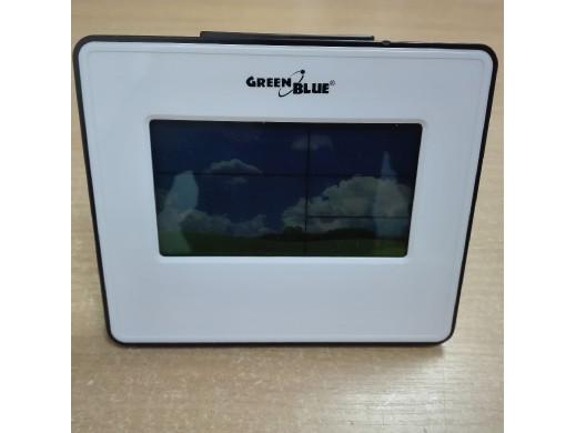 Stacja pogody zegar kalendarz fazy księżyca GreenBlue GB148W white POSERWISOWA ślady użytkowania