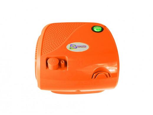 Inhalator BR-CN116B Omnibus pomarańczowy POSERWISOWY Ślady użytkowania, zarysowania obudowy. Nowy zestaw masek. Brak maseczki d