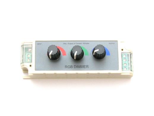 Sterownik taśm RGB regulowany potencjometrami