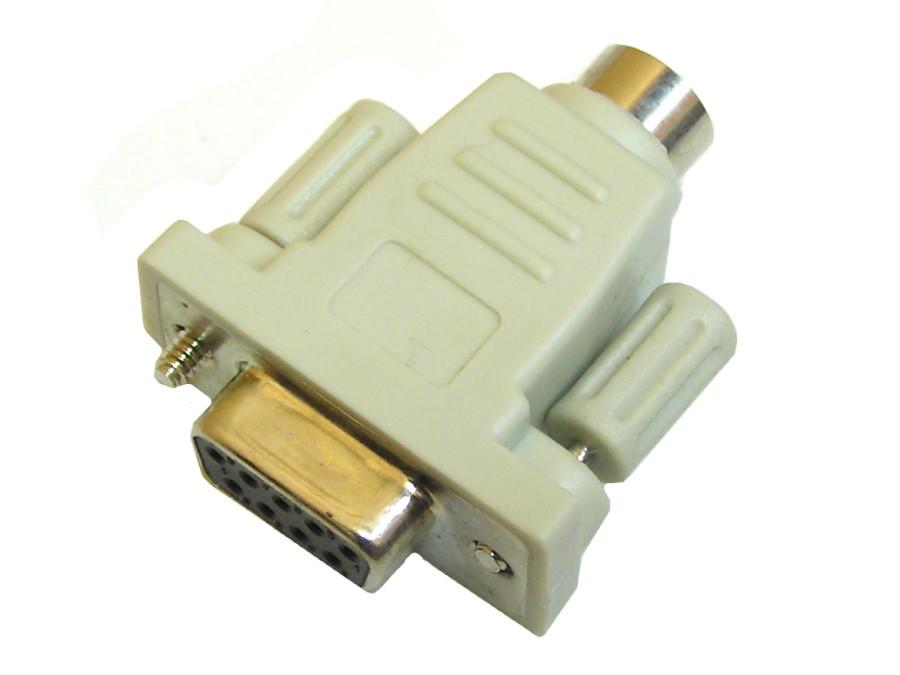 Adapter gniazdo DB9 żeńskie /gniazdo ps2 zalewany