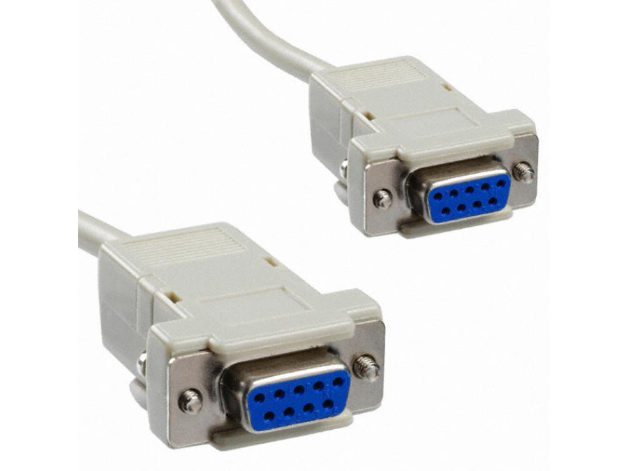 Przewód, kabel DB9F/DB9F żeńsko-żeński 1,5m null modem
