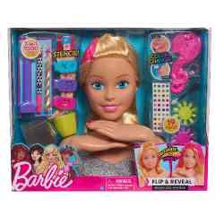 Głowa do stylizacji blond Barbie Deluxe