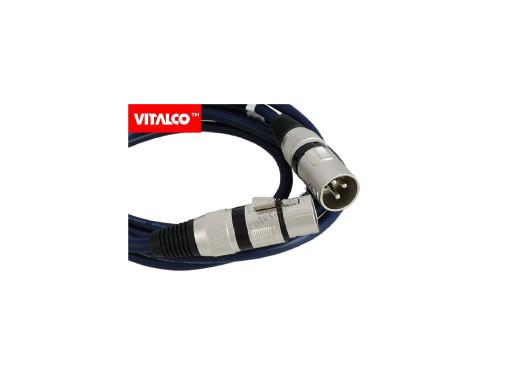 Przewód wtyk XLR gniazdo XLR 5M bawełna MK06 Vitalco