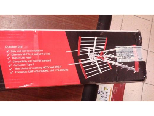 Antena zewnętrzna TV DVB-T kierunkowa Maclean MCTV-910 LTE VHF-UHF MUX8 POSERWISOWA