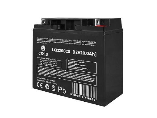 Akumulator żelowy LX12200 12V 20Ah