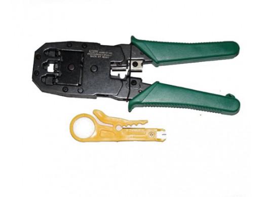 Zaciskarka telefoniczna HY200 wtyki 4p, 6p, 8p z nożykiem Kotion