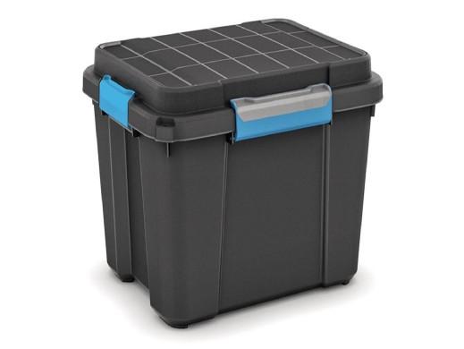 Skrzynka wodoodporna Kis Scuba Box M 45L IP44 czarna