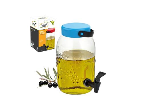 Szklany słój z kranikiem 3L owoce mix