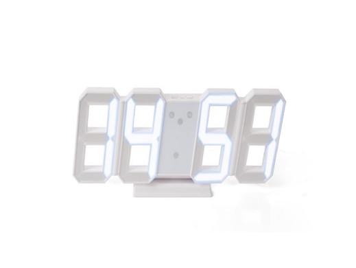 Zegar LED 3D z białymi...