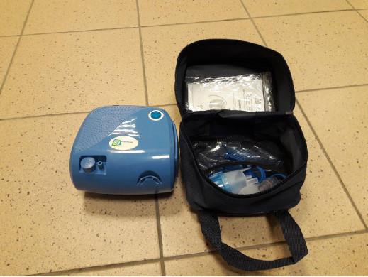 Inhalator BR-CN116B Omnibus niebieski - Ślady użytkowania