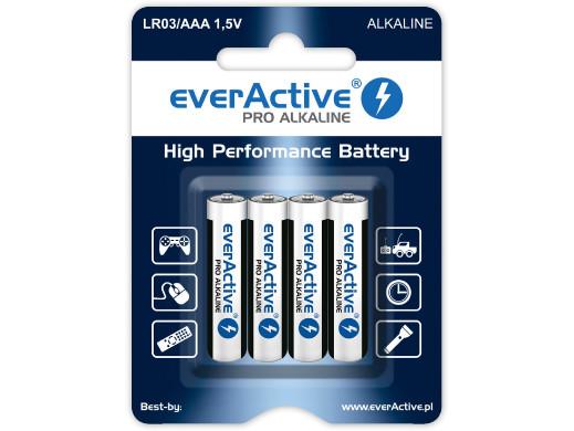 4x Baterie R-03 LR AAA alkaiczne EverActive Pro