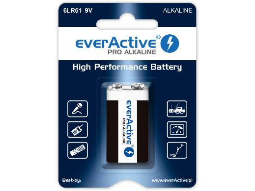 Bateria R-9V 6LR61 6LF22 9V alkaiczna EverActive Pro