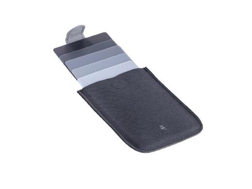 Skórzany portfel/etui na karty kredytowe DAX szary