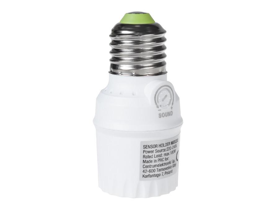 Oprawa żarówki E27 z czujnikiem dzwięku max 100W Maclean Energy MCE232 zakres 30dB - 90dB