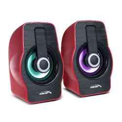 Głośniki komputerowe 6W USB Black/Red Audiocore AC855 R