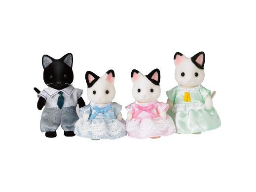 Figurki Sylvanian Families Rodzina kotków z czarnym uszkiem