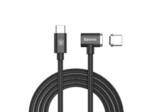 Kątowy kabel magnetyczny USB-C 1.5m 4.3A 86W BASEUS