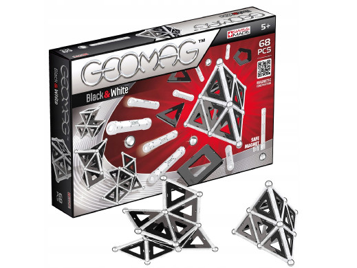 Klocki magnetyczne Geomag Black&White Panels 68el. GEO-012
