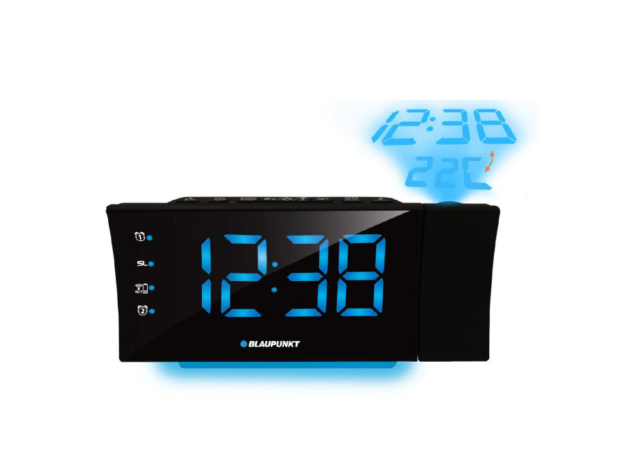 Radiobudzik z ład. i projektor USB Blaupunkt CRP81USB