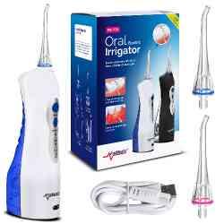 Irygator dentystyczny stomatologiczny do zębów bezprzewodowy Promedix PR-770 W końcówki 2szt, kolor biały