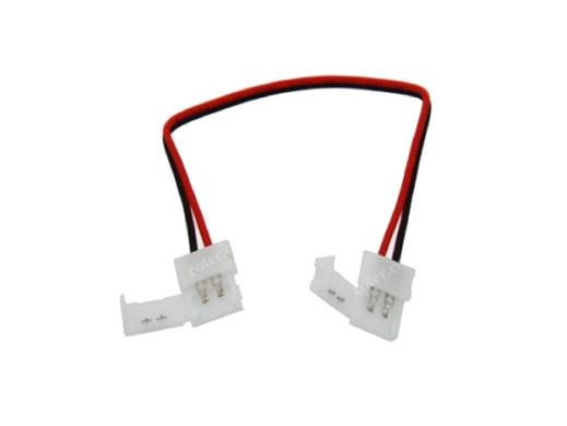 Złącze LED 8mm do taśm 3528 2 pin z przewodem łącznik