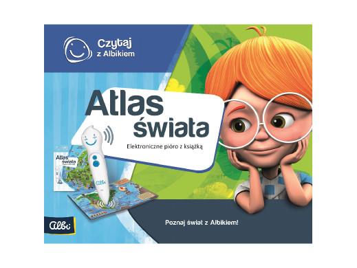 Zestaw Czytaj z Albikiem Atlas świata PL