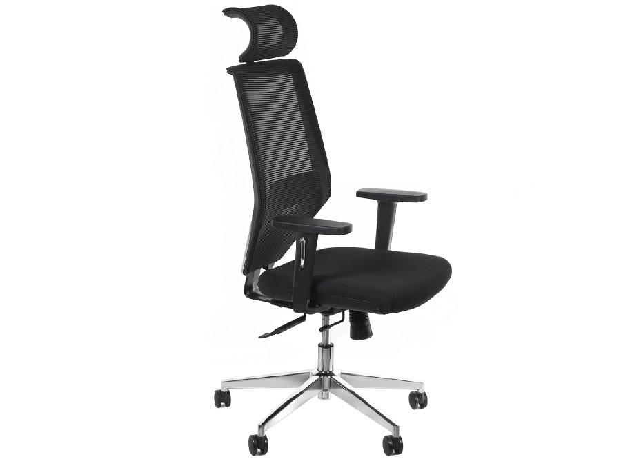Fotel biurowy ergonomiczny 6D Hi-Tech regulowany zagłówek, podparcie pleców,  podłokietniki, wys. oparcia, wys. GreenBlue  GB181