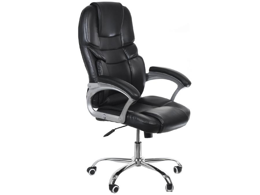 Fotel biurowy ergonomiczny Luxury Greenblue GB182 obicie ekoskóra, stopa chromowana, High Quality