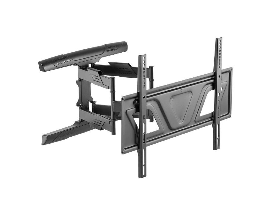 """Uchwyt do telewizora lub monitora 37-80"""" płaski Maclean MC-832 czarny max vesa 600x400 45kg, odległość od ściany 41-475mm"""