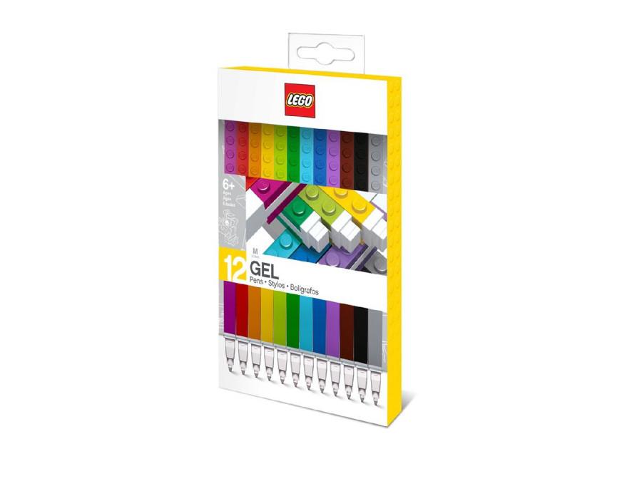 Zestaw 12 kolorowych długopisów żelowych LEGO