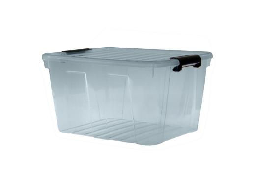 Pojemnik z pokrywą Plast Team Home Box 30L transparentny szary