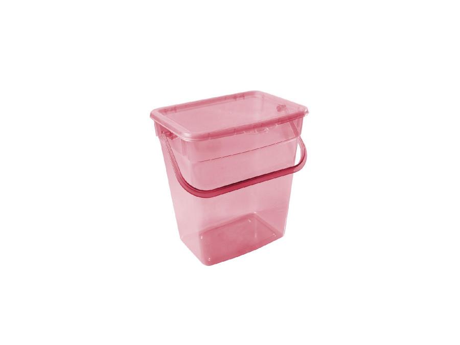 Pojemnik na proszek Plast Team 6L transparentny czerwony
