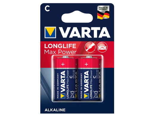 2x baterie alkaliczne Varta Longlife Max Power R14